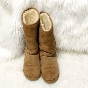 Uggs Tan Tall Suede  Boots